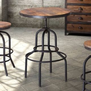 Zuo Modern Twin Peaks Adjustable Height Bar Table   Distressed Natural   Pub Tables
