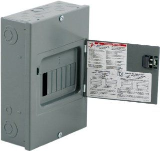 Square D by Schneider Electric QO816L100DS QO 100 Amp 8 Space 16 Circuit Indoor Surface Mount Main Lugs Load Center with Cover and Door   Circuit Breaker Panels