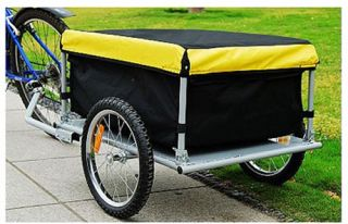 Aosom Elite Cargo Trailer Yellow   Bike Trailers