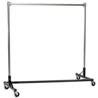 Heavy Duty Steel 4 Foot Long Z Rolling Rack   Coat Racks