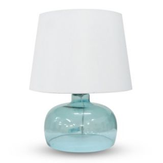 Integrity Lighting AC 1591BU Blue Opal Glass Table Lamp   Table Lamps