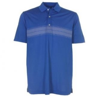 Page & Tuttle Mini Chest Stripe Men's Polo Golf Shirt   Medium Blue Clothing