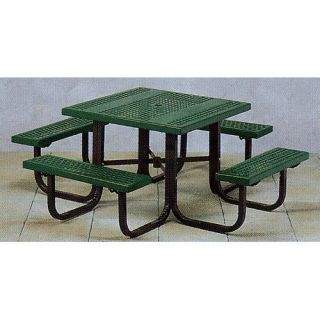 Paris Equipment Commercial Square Picnic Table   Picnic Tables