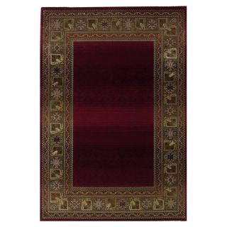Oriental Weavers Generations 3436R Border Area Rug   Red   Area Rugs