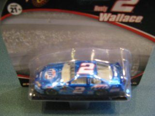 Rusty Wallace #2 (NASCAR HALL OF FAME INDUCTEE) Miller Lite Metallic Light Blue Flames Bristol Tribute 1/64 Scale Diecast Winners Circle Toys & Games