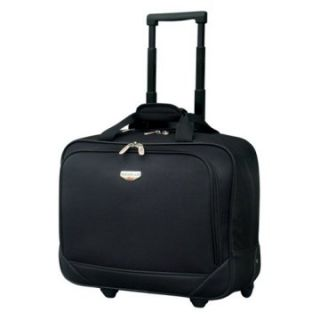 Travelers Club Luggage 17 in. Single Section Rolling Briefcase   Computer Laptop Bags