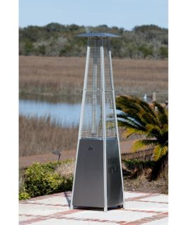 Fire Sense Stainless Steel Pyramid Flame Heater   Patio Heaters