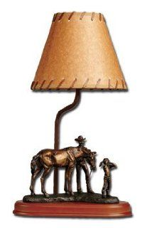 HORSE ranch TABLE LAMP desk accent WESTERN decor