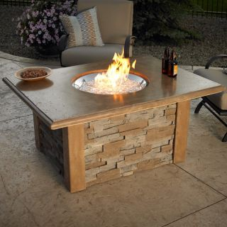 Outdoor GreatRoom Sierra Gas Fire Pit Table   Fire Pits