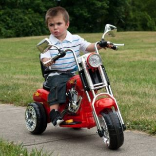 Lil Rider Red Rocking 3 Wheel Chopper Motorcycle Battery Powered Riding Toy   Battery Powered Riding Toys