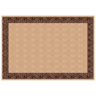 Dynamic Rugs Radiance Collection 47 x 24 Hearth Rug Creme Tapestry   Hearth Rugs