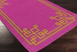 2' x 3' Alameda Flat Pile Flat Weave Hand Woven (Flatweave) Rectangle 100% Wool Rug Raspberry Raspberry, Pumpkin, Raspberry Wine  Area Rugs