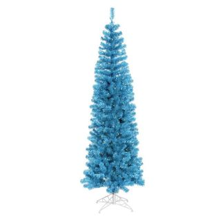 Vickerman Sky Blue Pencil Christmas Tree   Christmas Trees