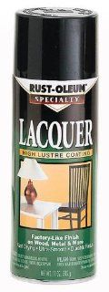 11 Oz Black Lacquer Spray Paint Gloss [Set of 6]