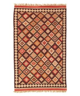 Sara 100% Wool Kilim Area Rug   Red Diamond   Area Rugs