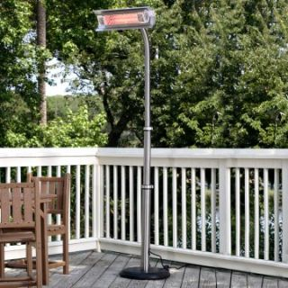 Fire Sense Stainless Steel Telescoping Offset Pole Mounted Infrared Patio Heater   Patio Heaters