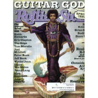 Rolling Stone April 1 1999 #809 Jimi Hendrix Cover, Guitar Gods Issue, Keith Richards, Eric Clapton, Robbie Robertson, Brian Setzer Jann Wenner Books