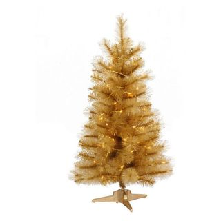 Vickerman Gold Glitter Cashmere Clear Pre lit Christmas Tree   Christmas Trees