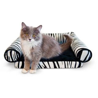 K&H Pet Products Lazy Lounger Cat Bed   Zebra   14 x 16 x 5.5 in.   Cat Beds