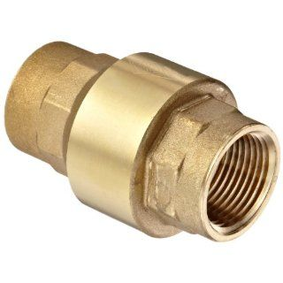 "Dixon CV075 Brass Spring Loaded Check Valve, 3/4"" NPT Female Industrial Check Valves"