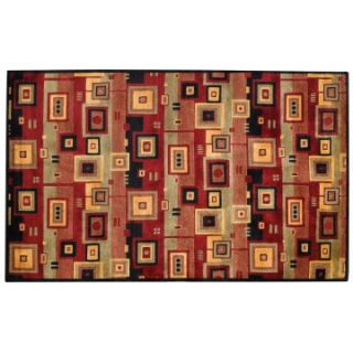 Capel Rugs Crystalle Collection Circuits Wool Hearth Rug   Hearth Rugs