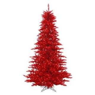 Vickerman Tinsel Red Fir Pre lit Christmas Tree   Christmas Trees