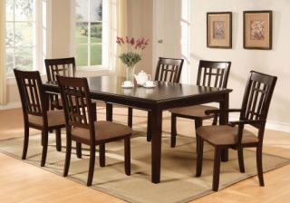Furniture of America Cramer 7 Piece Dining Table Set   Dark Cherry   Dining Table Sets