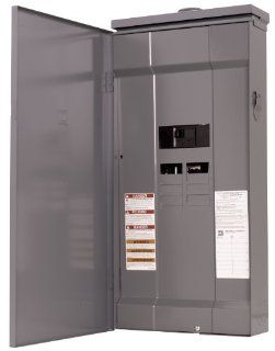 Square D by Schneider Electric HOM816M200FTRB Homeline 200 Amp 8 Space 16 Circuit Outdoor Main Breaker Load Center with Feed Thru Lugs   Circuit Breaker Panels
