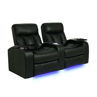Seatcraft 841 Signature Series Verona Home Theater Seating with Power Recline, Row of 4   Chocolate Electronics