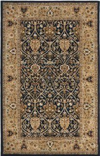 Safavieh PL819C 28 Persian Legend Collection Handmade Blue and Gold New Zealand Wool Area Runner, 2 Feet 6 Inch by 8 Feet