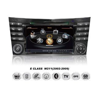 Mercedes Benz E Class W211 OEM Digital Touch Screen Car Stereo 3D Navigation GPS DVD TV USB SD iPod Bluetooth Hands free Multimedia Player  In Dash Vehicle Gps Units