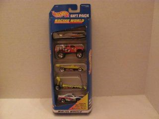 Vintage   Hot Wheels   RACING WORLD   5 Car GIFT PACK (Each is 164 Scale Die Cast Metal Car)   1997   by MATTEL / (Made in Thailand / For Ages Over 3 Years)