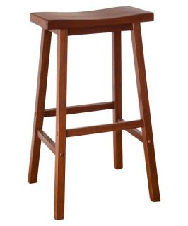 Winsome Wood 29 Inch RTA Single Saddle Seat Bar Stool   Walnut   Bar Stools
