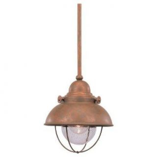 Sea Gull Lighting 6150 44 Down Lighting Pendant from the Sebring Collection, Weathered Copper   Pendant Porch Lights