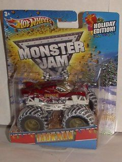 2012 Hot Wheels 164 Scale Exclusive Holiday Iron Man Monster Jam Truck with Snow Covered Tires