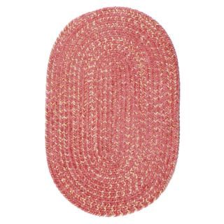 Colonial Mills West Bay Chenille Indoor/Outdoor Braided Area Rug   Sunset Pink   Braided Rugs