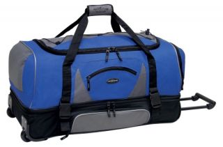 Travelers Club 36 in. 2 Section Drop Bottom Rolling Duffel Bag   Navy   Sports & Duffel Bags
