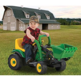 Peg Perego John Deere Mini Loader Tractor Battery Powered Riding Toy   Battery Powered Riding Toys