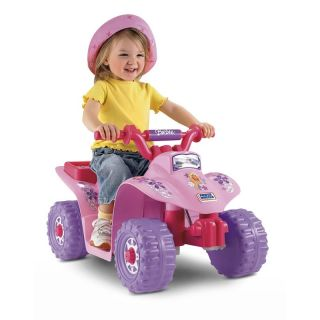 Fisher Price Power Wheels Barbie Lil Quad ATV Battery Powered Riding Toy   Battery Powered Riding Toys