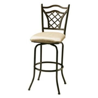 Pastel 26 in. Willow Bridge Swivel Counter Stool   Autumn Rust   Bar Stools