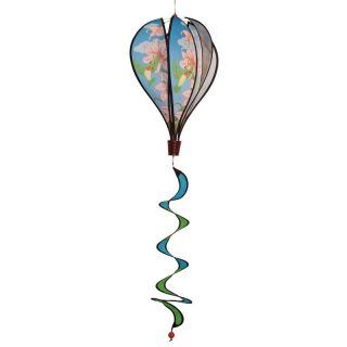 In the Breeze Hummingbird Lilies Hot Air Balloon Wind Spinner   Wind Spinners