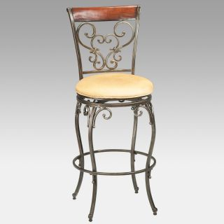 Hillsdale Knightsbridge 26 in. Swivel Counter Stool with Wood/Metal Back   Bar Stools