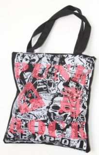 Clover Black Red White Punk Rock Tote Bag Clothing