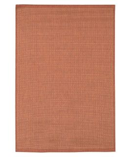 Couristan Recife Saddle Stitch Indoor/Outdoor Area Rug   Terra Cotta/Natural   Area Rugs