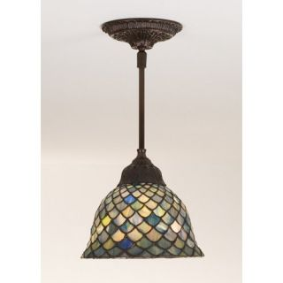 Meyda Fishscale Tiffany Mini Pendant Light   8W in. Bronze   Tiffany Ceiling Lighting