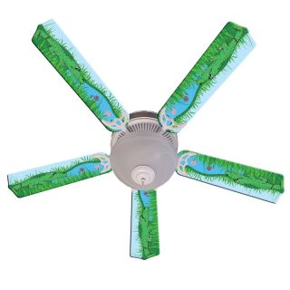 Ceiling Fan Designers Kids Alligator Gator Tale Indoor Ceiling Fan   Ceiling Fans