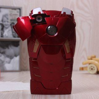 3D Damage Avengers LED Flash Iron Man Red Mark VII Superman Hight Cover Protective Armor Case For iphone 4/4S Toys & Games