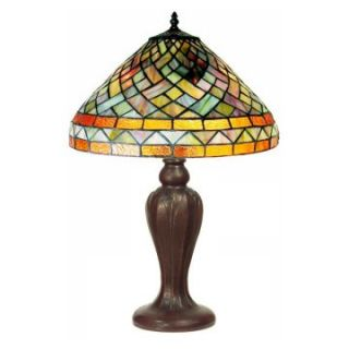Tiffany Style Geometric Table Lamp   Table Lamps