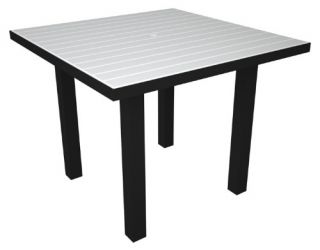 POLYWOOD® Euro 36 in. Square Dining Table   Commercial Patio Furniture