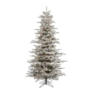 Sierra Flocked Slim Pre Lit Christmas Tree   Christmas Trees